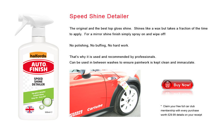 Auto Finish Speed Shine Detailer