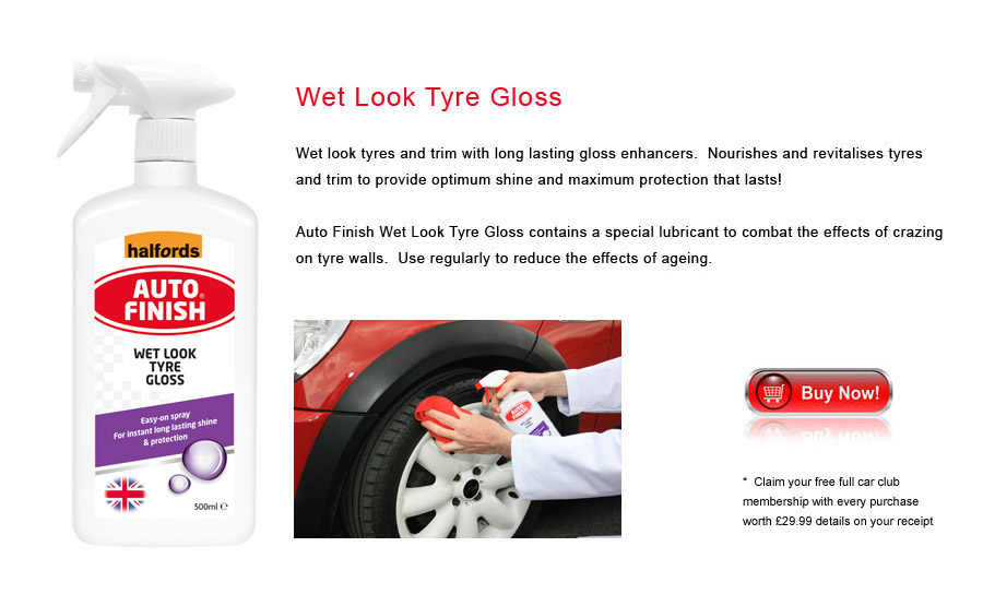 Auto Finish Wet Look Tyre Gloss