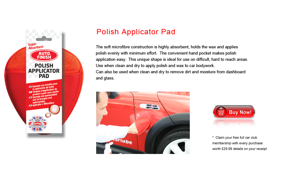 Auto Finish Polish Applicator
