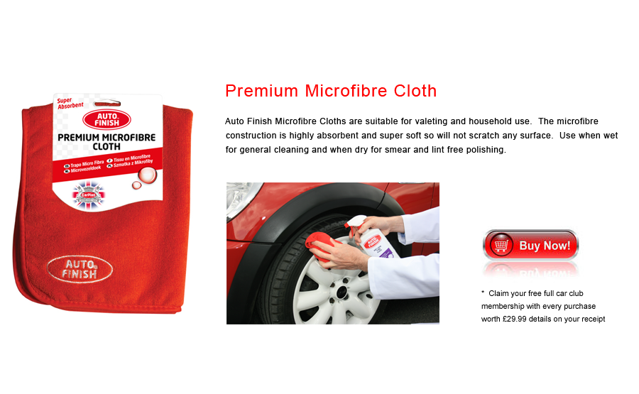 Auto Finish Premium Microfibre Cloth
